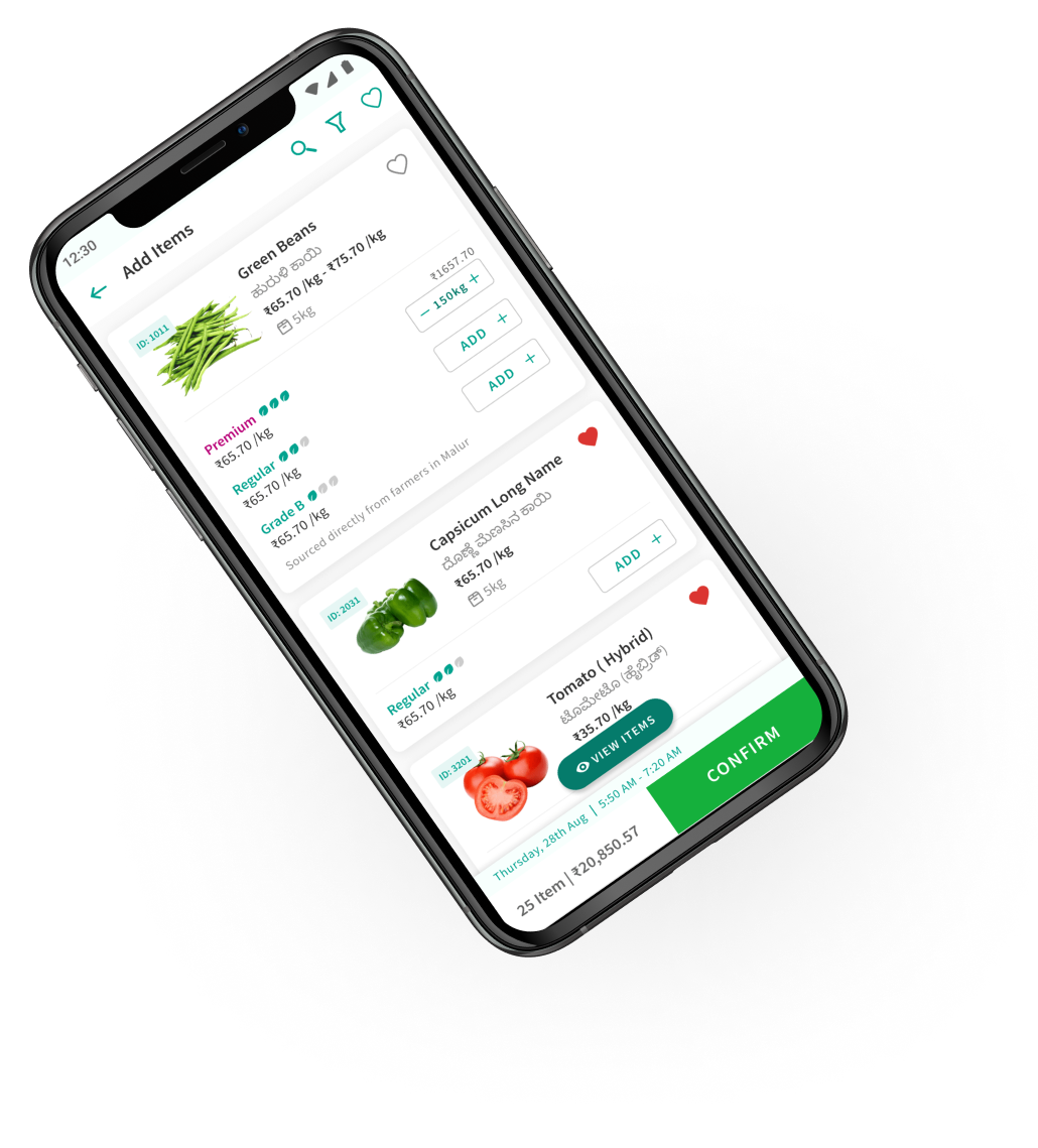 farmersMandi retailer app