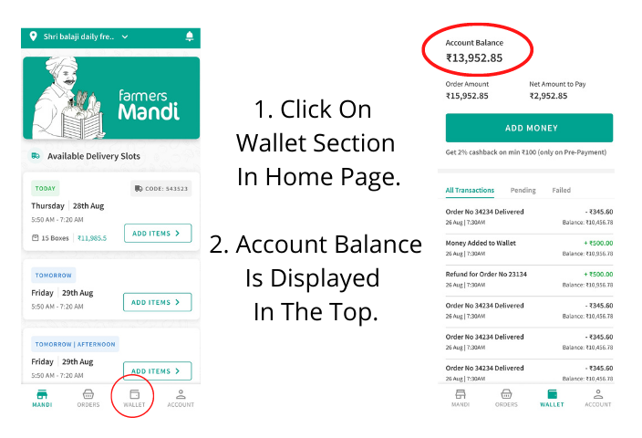 Click On Wallet In Home Page Account Balance Is displayed In The Top (5)